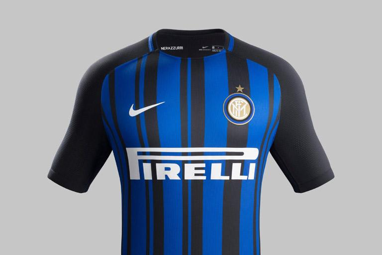 INTER AND NIKE PRESENT 2017 2018 HOME KIT  d460494caca